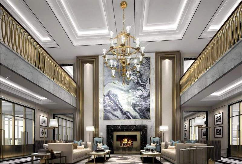 別墅客廳的燈光應該隨不同用途,場所而變化.