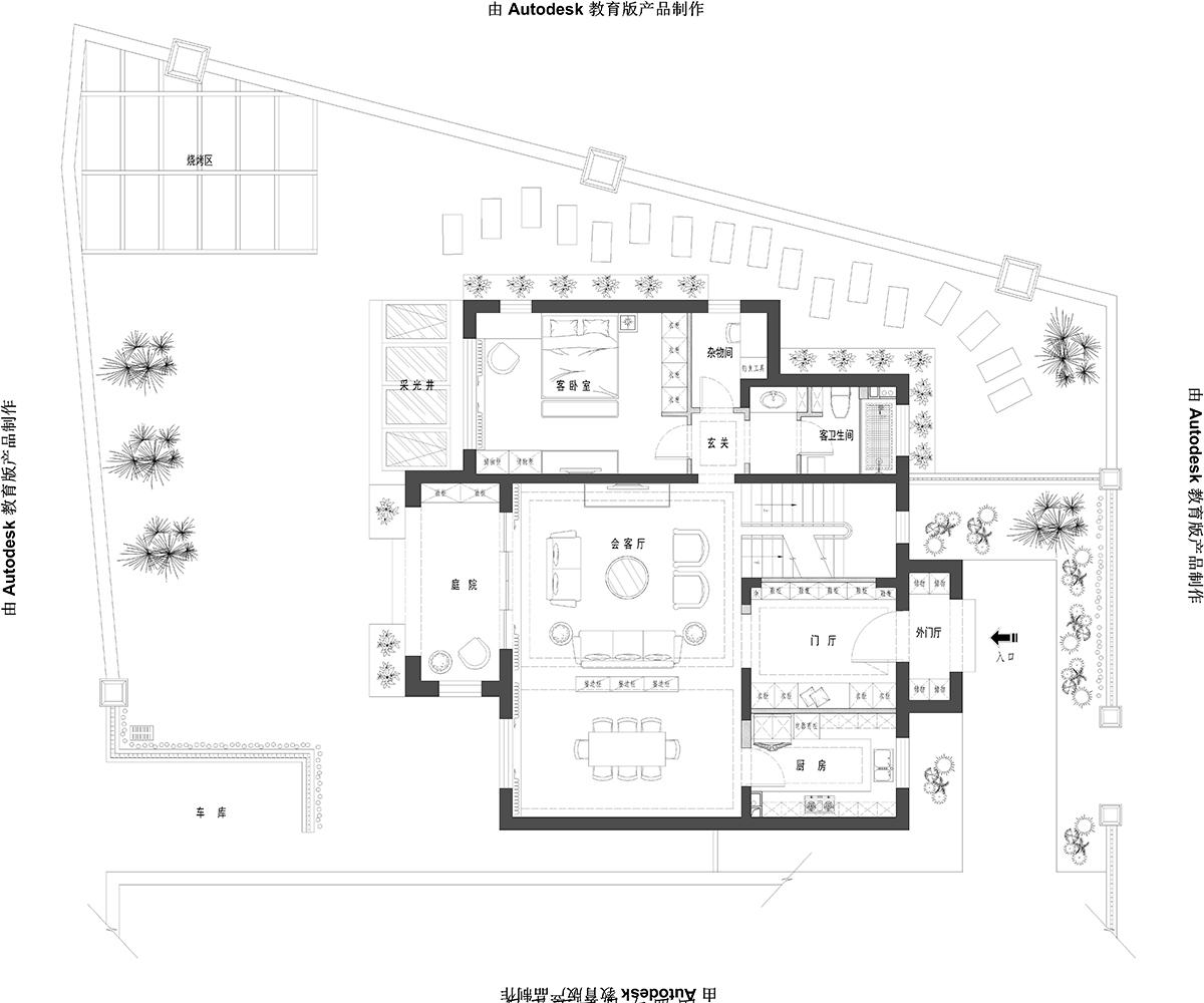 云溪花园 欧式风格 360㎡装修设计理念
