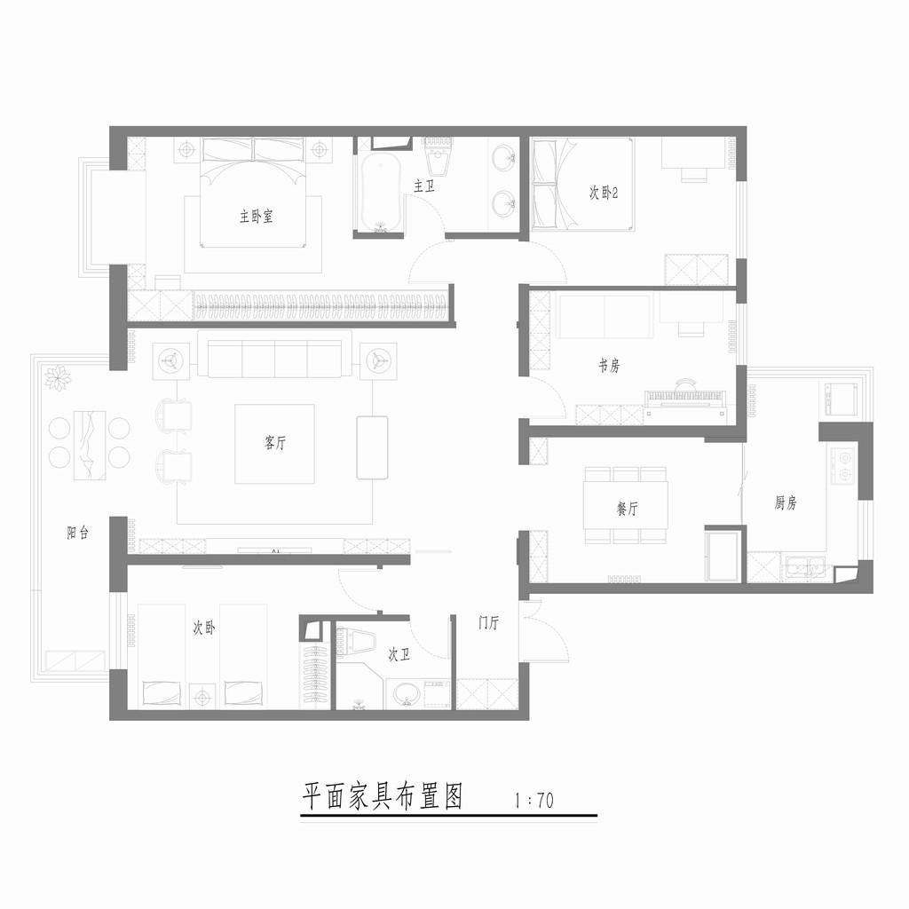 泰欣院-中式装修风格-150平米装修设计理念