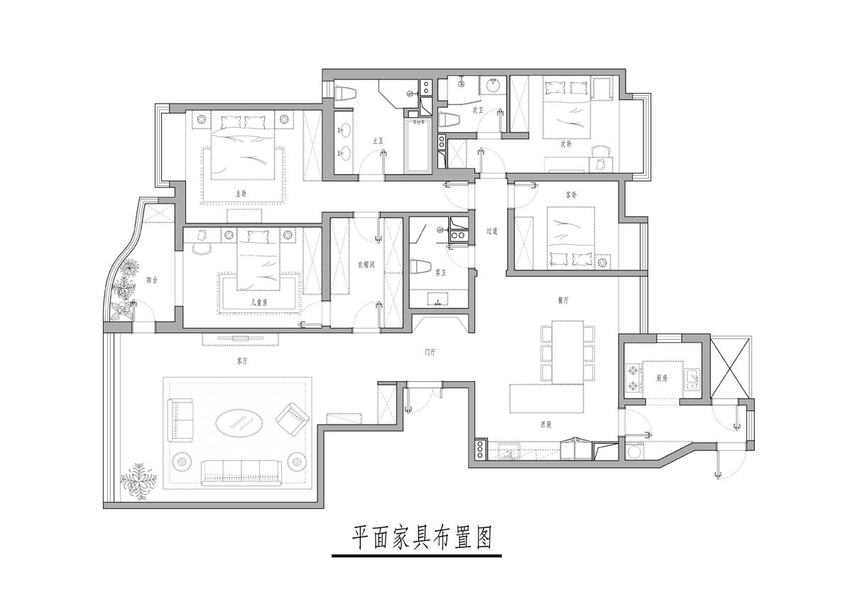 海晟名苑-160平米-现代风格装修设计理念