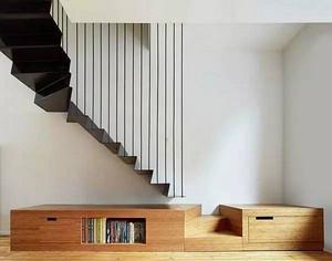 楼梯装修效果图,楼梯与书房的完美结合