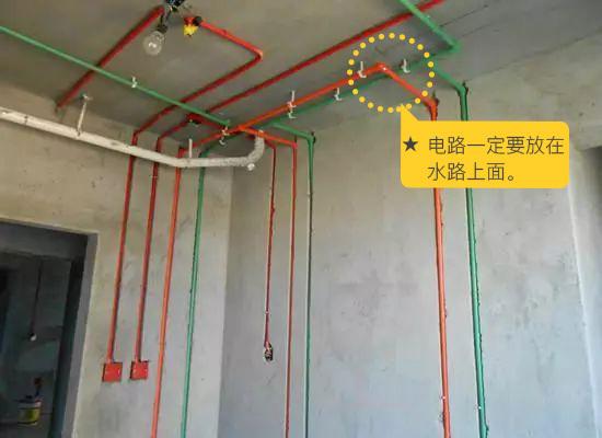 改造   不管走顶还是走地,如果水电线路放在一起的话,电路一定要放在