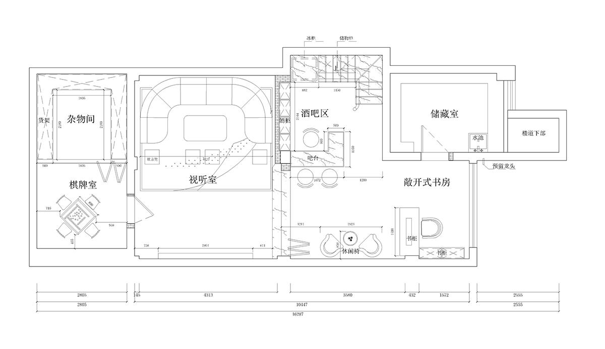 叶泊蓝山-300平-新中式装修设计理念