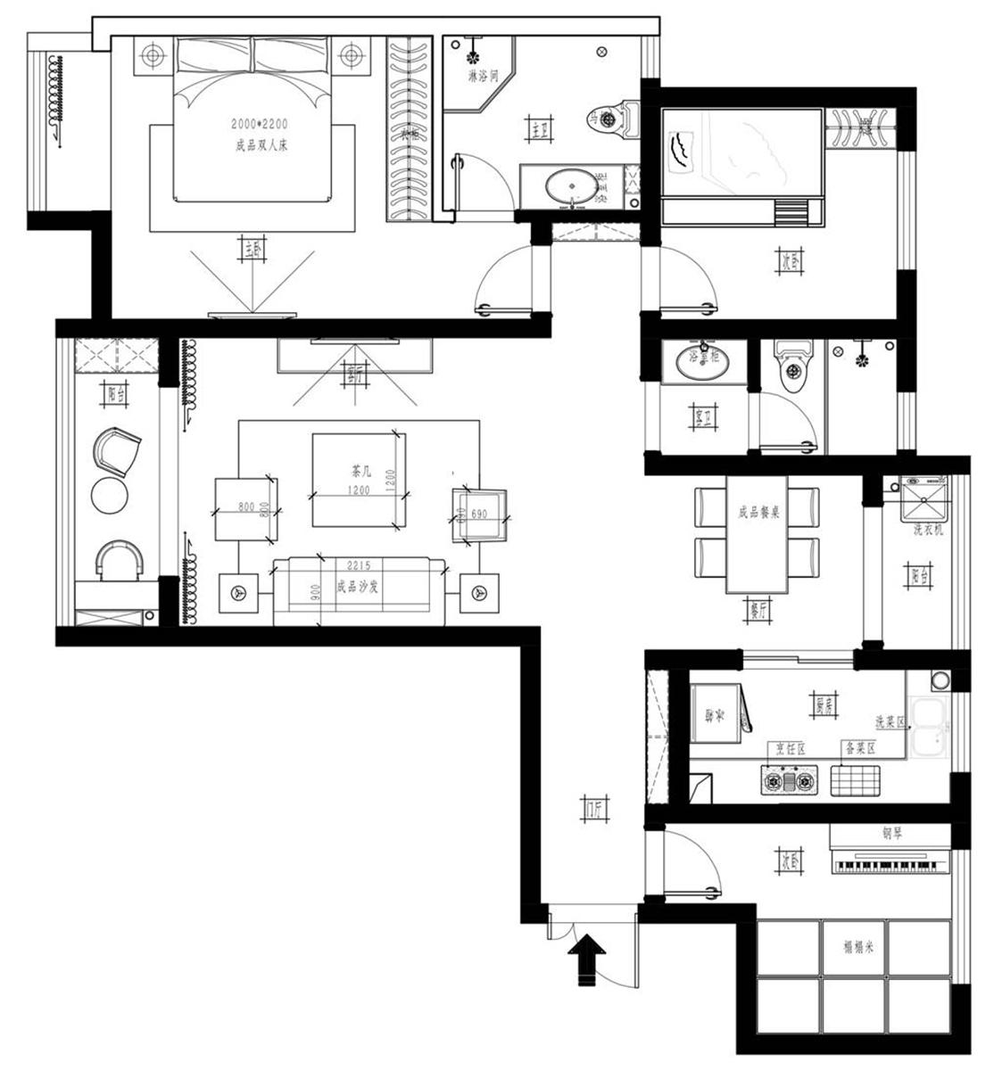 永威迎宾府现代简约风格130㎡平层装修设计理念