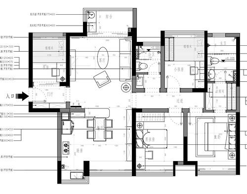 东城鼎峰尚境装修案例-120㎡地中海式三房二厅装修案例装修设计理念