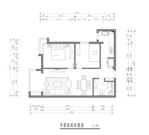 锦湖花园-76平米-现代简约装修设计理念