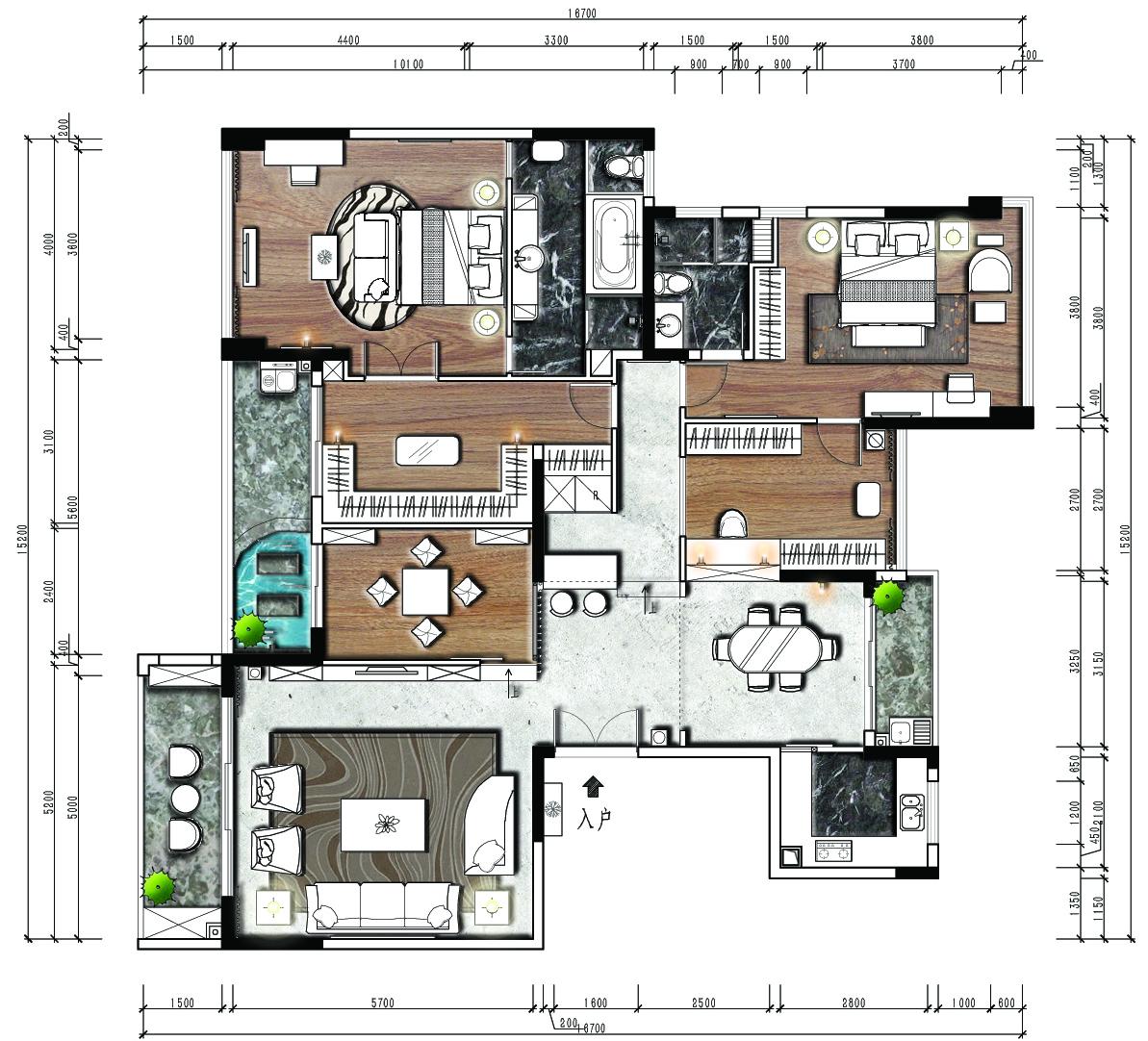 云景梧桐188平米-现代简约装修设计理念
