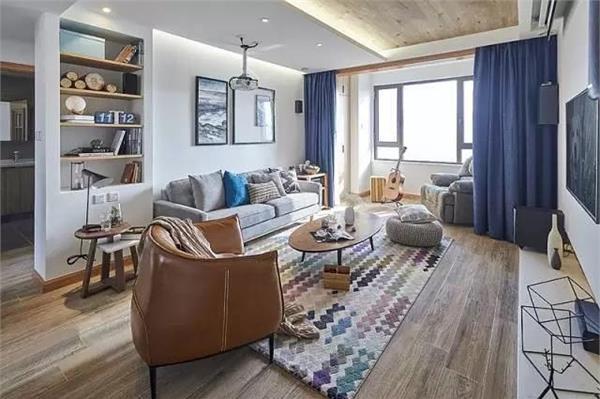 客厅阳台窗帘效果图,这个搭配好美-深圳家装公司排行榜