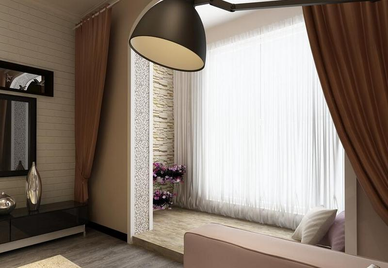 首页 装修头条 装修设计 客厅阳台窗帘效果图,这个搭配好美-深圳家装