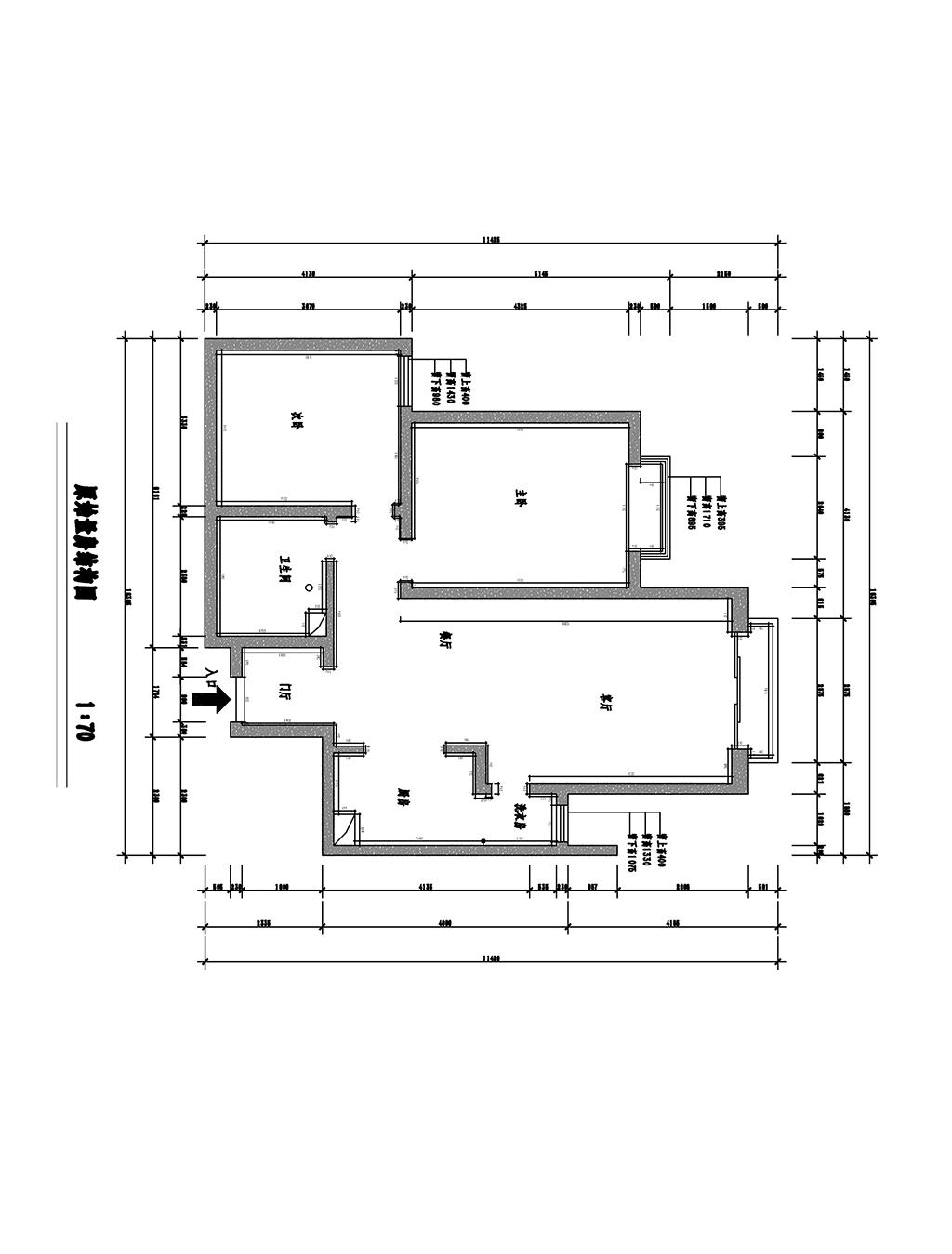格林小镇-120平米-新中式风格两室一厅一厨一卫装修案例效果图装修设计理念