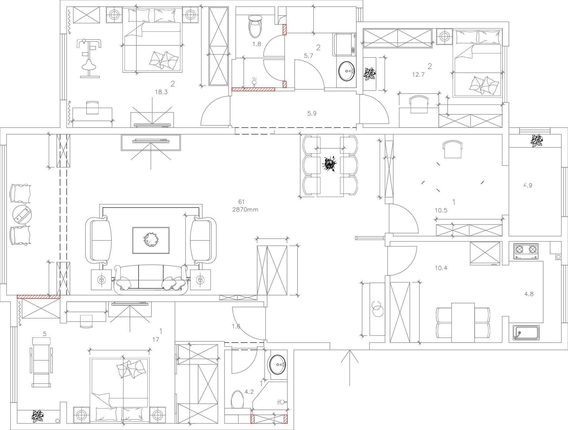 香山四季-215平米-简约新中式装修设计理念