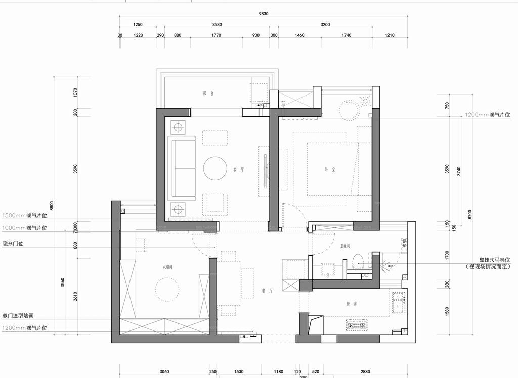 天乐园-新古典-85平米装修设计理念