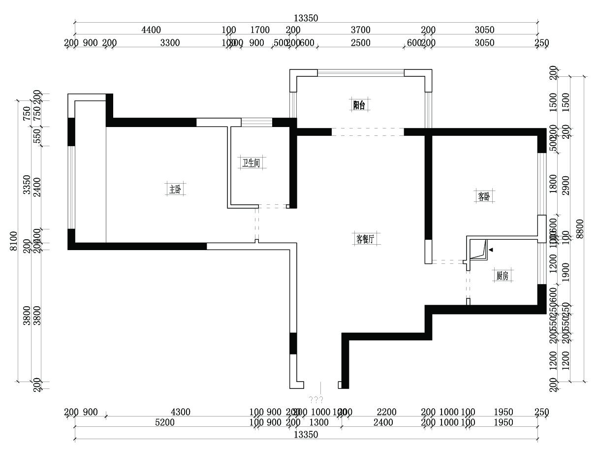 大观国际北欧风格89㎡平层装修设计理念