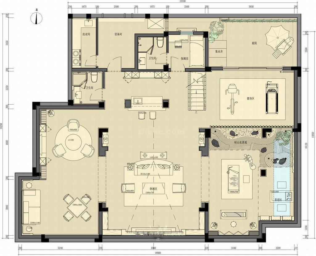 天恒别墅-美式-400平米装修设计理念