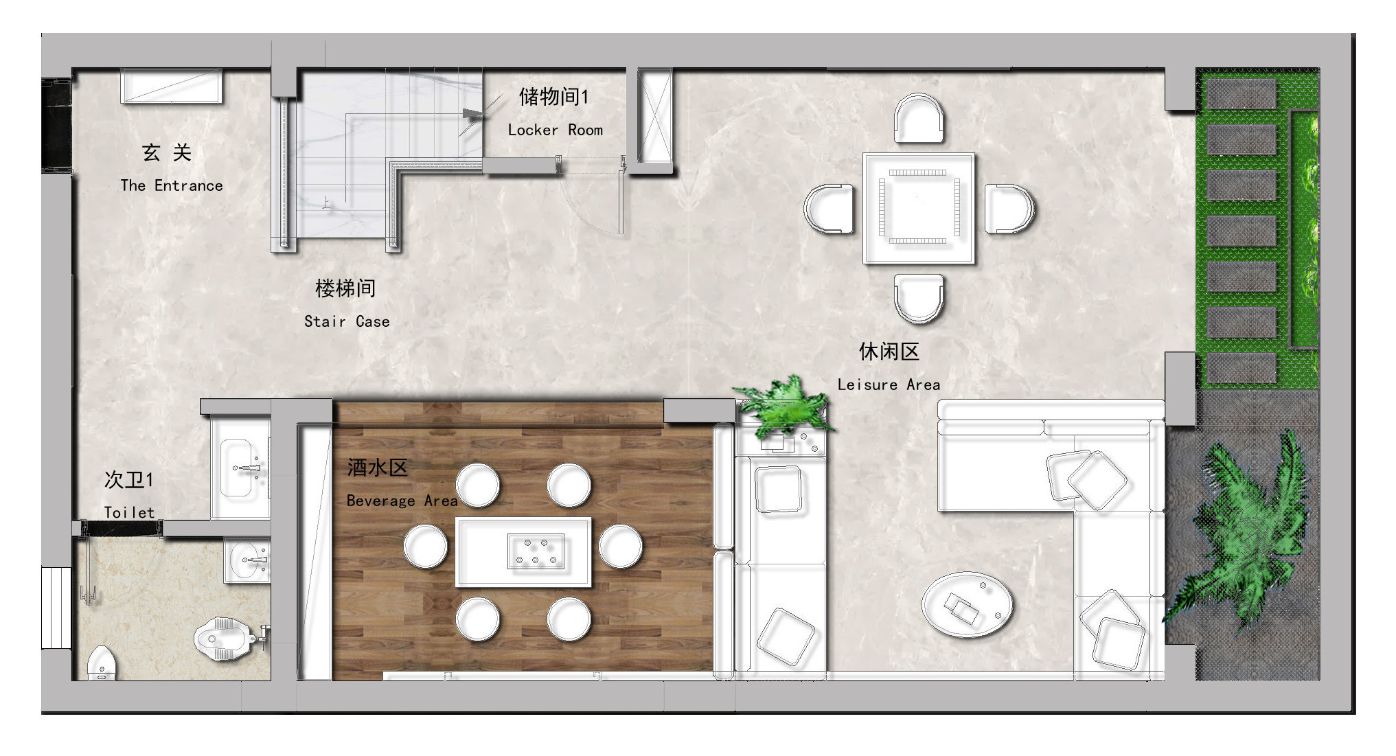 鲁能领秀城430㎡新中式别墅装修效果图装修设计理念
