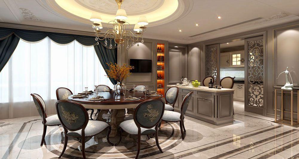 《岁月鎏金》欧式将宽敞舒适的空间修饰为富丽堂皇的尊贵府邸,令人