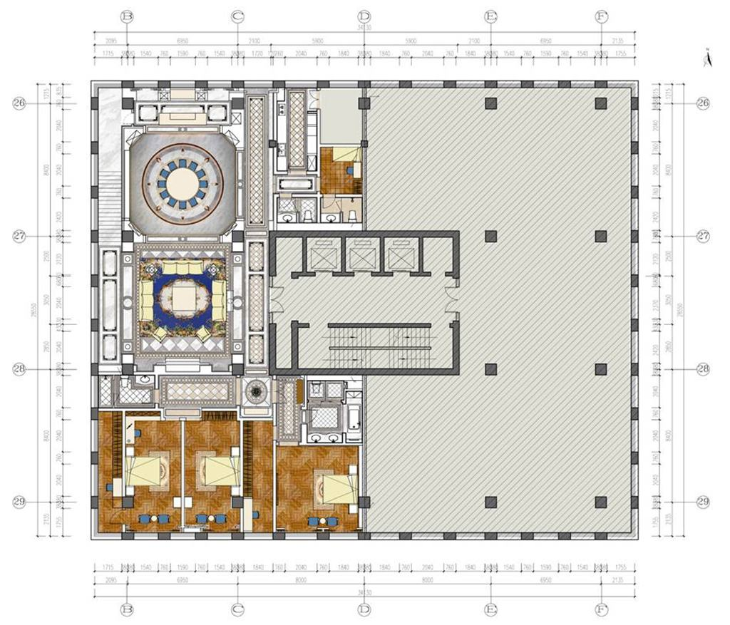 CSD碧桂园-法式-1800平米装修设计理念