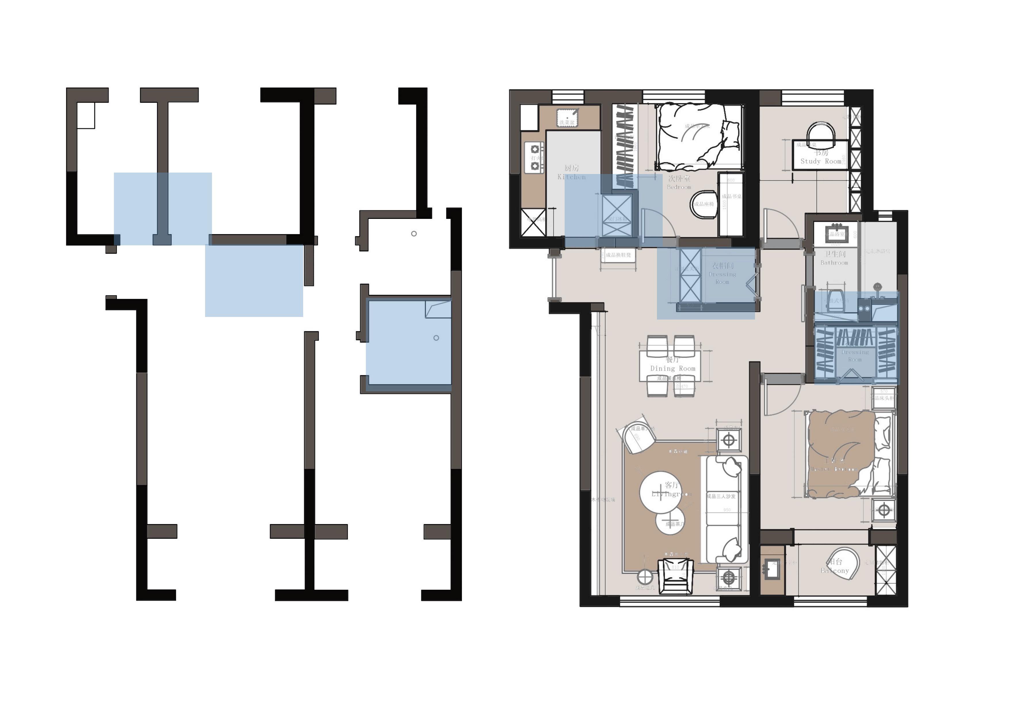 茉莉公馆 110㎡ 北欧装修设计理念