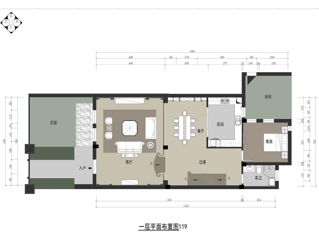百瑞景法式风格别墅装修效果图装修设计理念