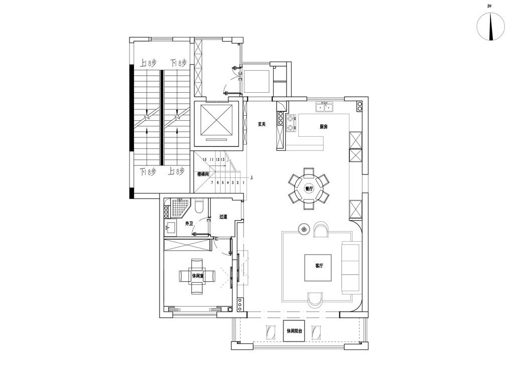 学院路七号跃层200平现代轻奢风格装修设计效果图装修设计理念