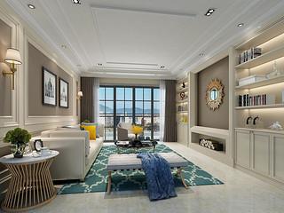 天骄御峰4栋01户型 156㎡美式三房二厅家装设计方案