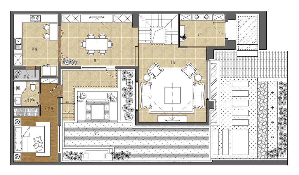 370平米凯旋门国际 新古典装修效果图装修设计理念