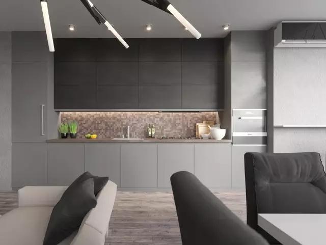 灰色厨房设计