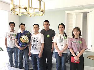 东易日盛南京分公司百合行动持续绽放中