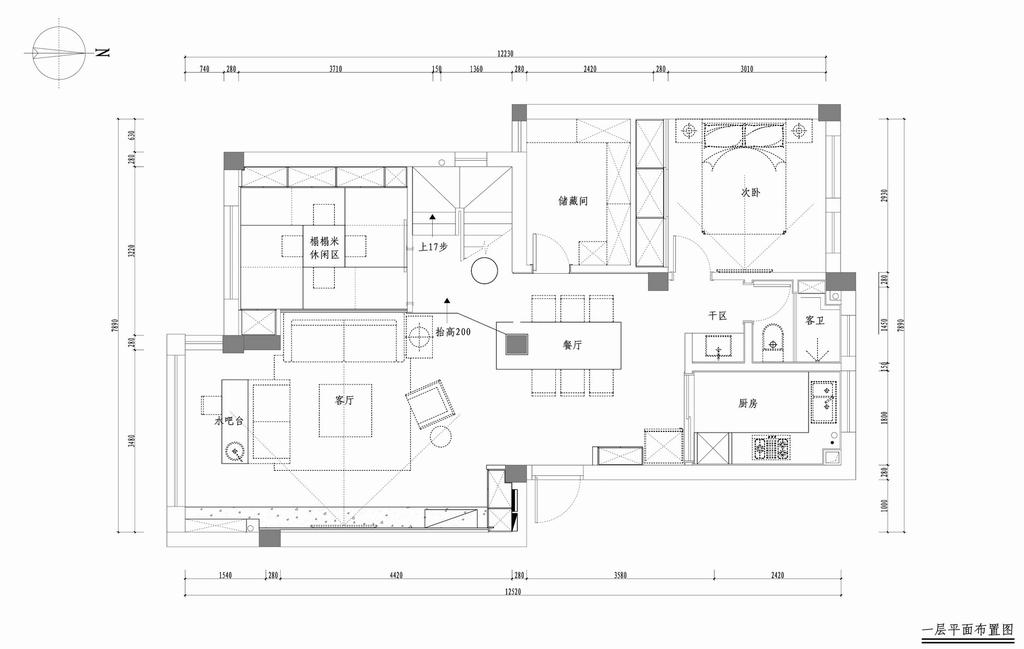 江南名楼-混搭-165平米装修设计理念