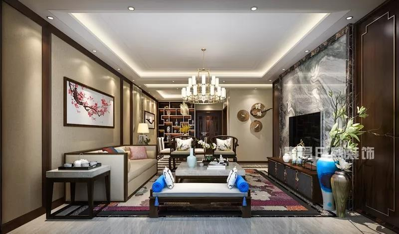 120平米房屋装修,新中式风格设计案例!