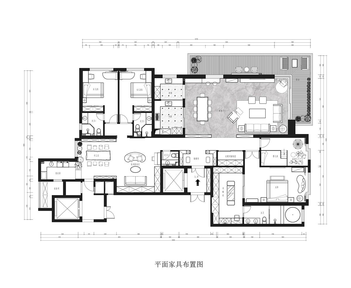 西北湖壹号御玺湾318m/2现代性状style装潢成果图装潢策划愿景
