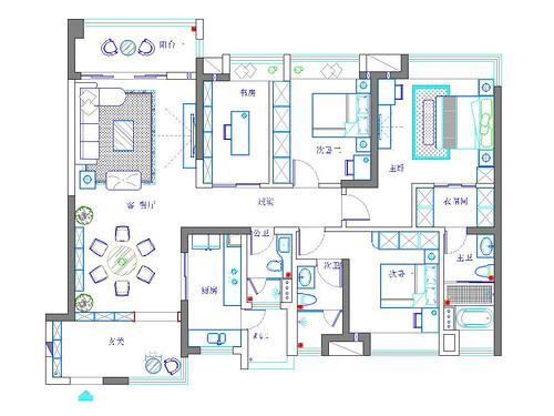 樟木头保利生态城装修案例 165㎡现代风格四房二厅-装修效果图装修设计理念