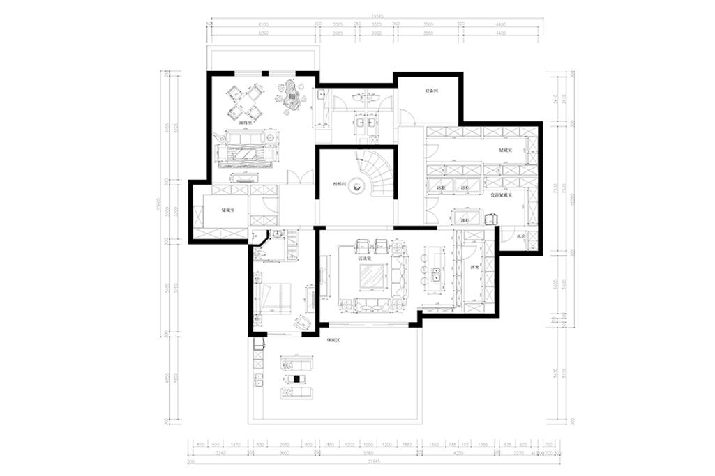 万科二期独栋-新中式-560㎡装修设计理念