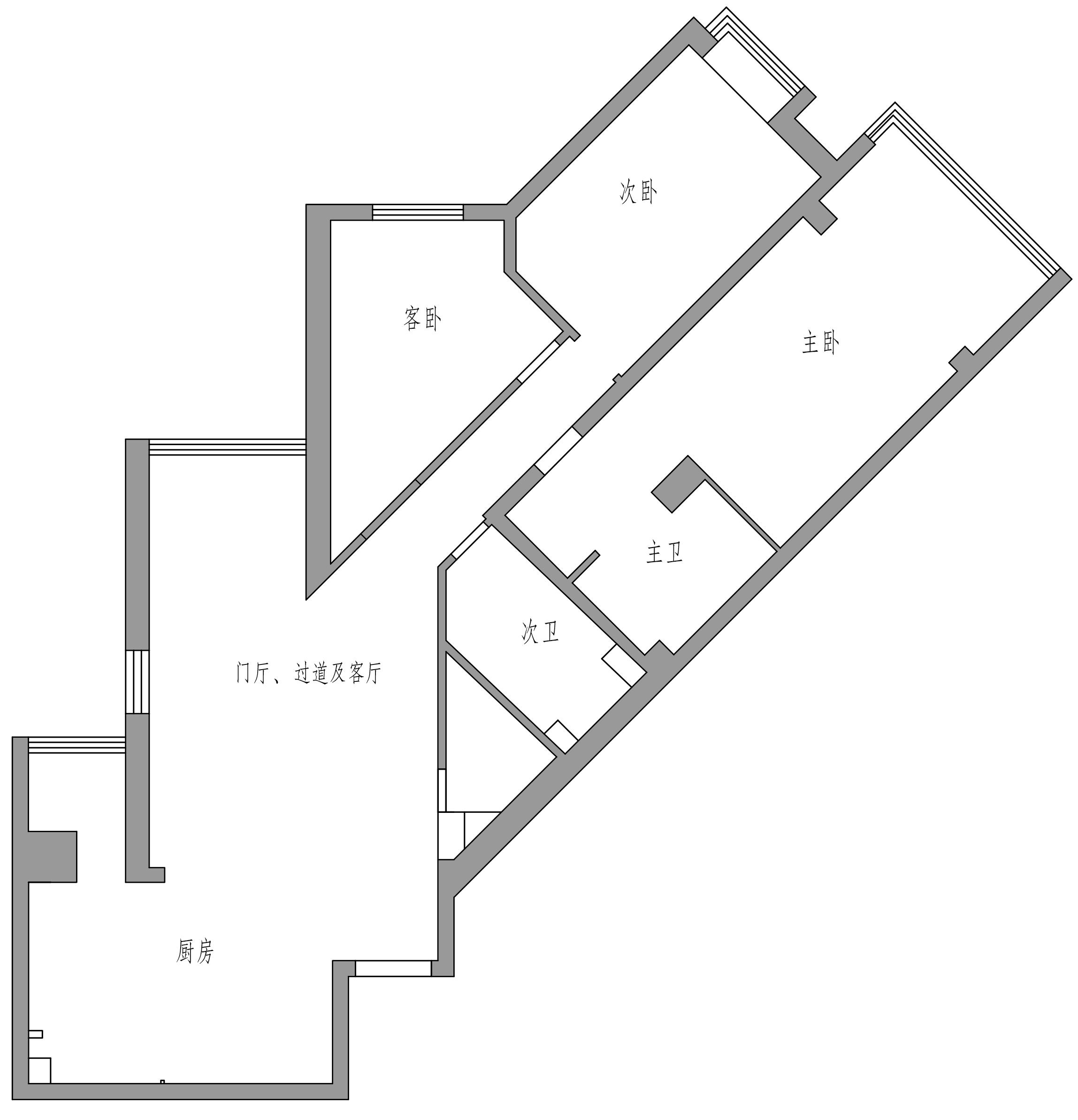 东方世纪嘉园-90平米-北欧装修设计理念