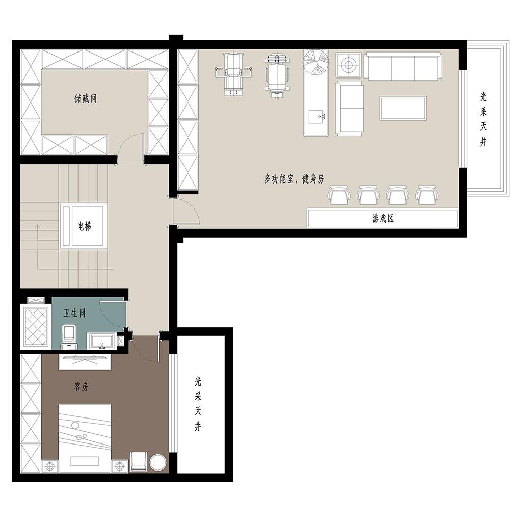 蓝光雍锦园500㎡别墅现代简约风格装修设计理念