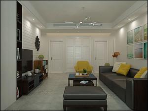 130简约风格三室装修,现代、时尚、大气!