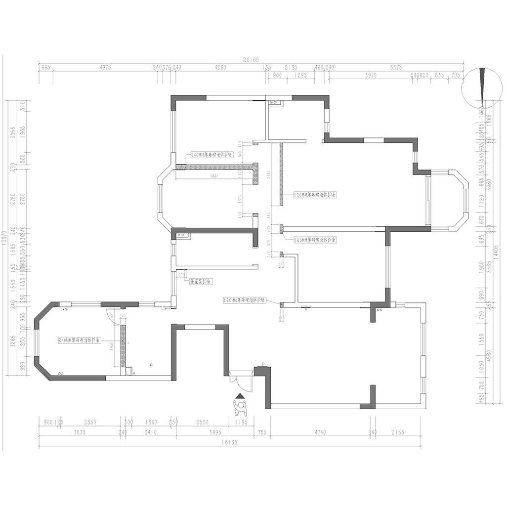 置信丽都花园丽府165㎡四居室欧式风格装修设计理念