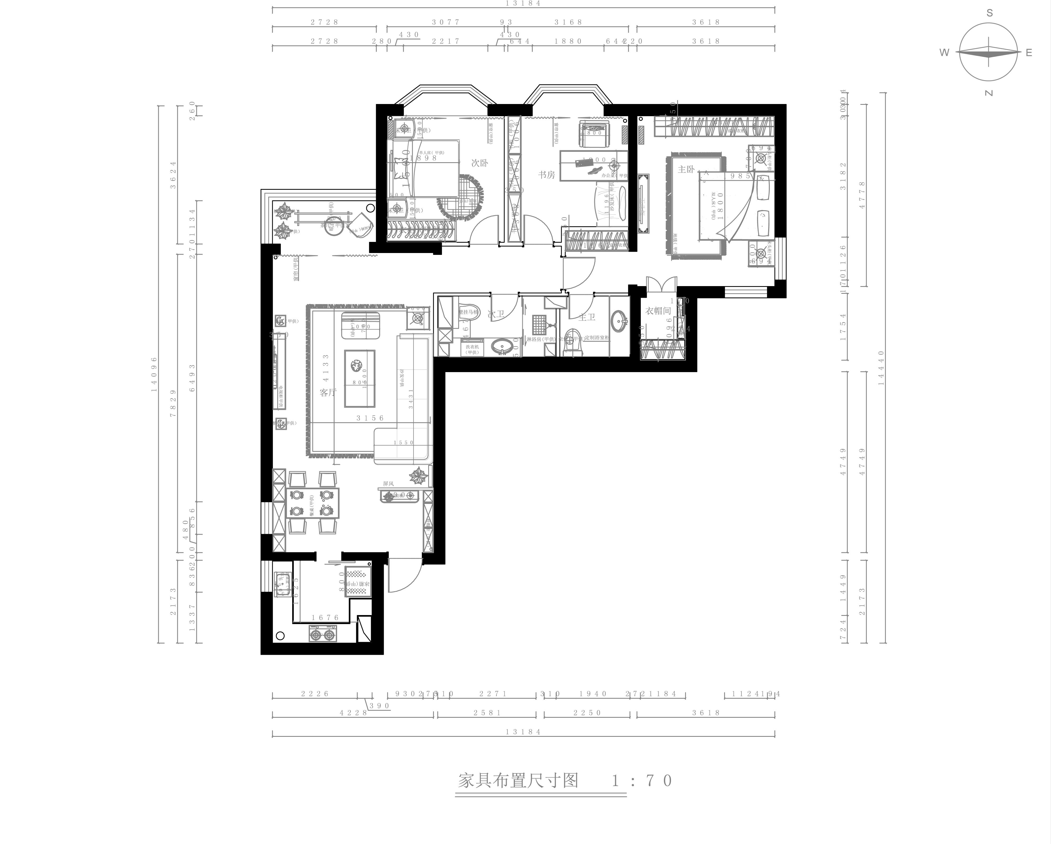 广华轩小区-140平米-简欧风格装修设计理念