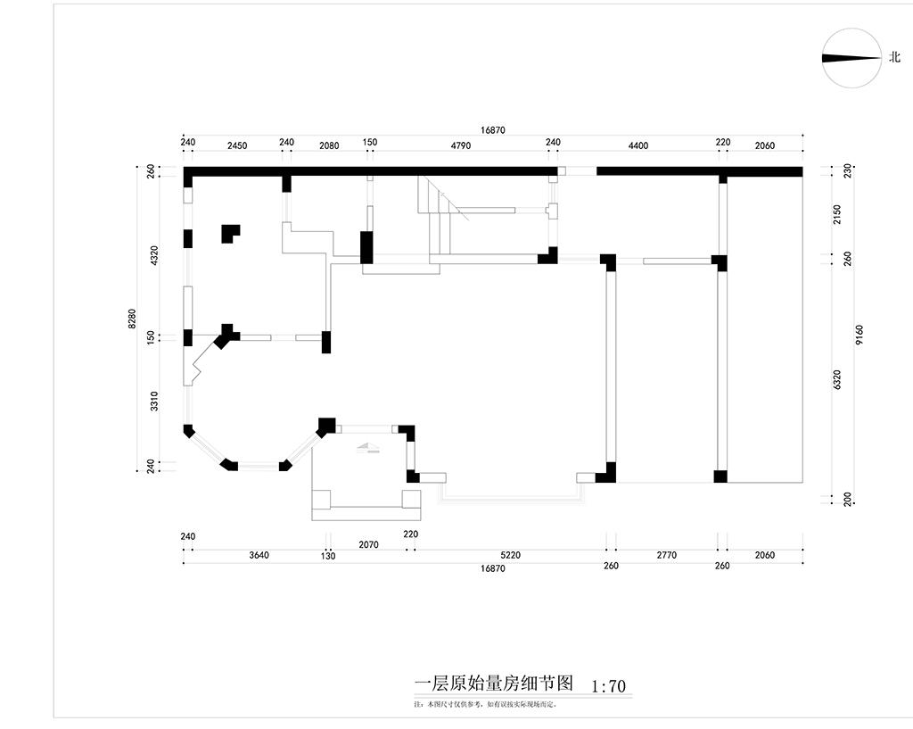 五邑碧桂园480㎡中式风格独栋别墅装修案例装修设计理念