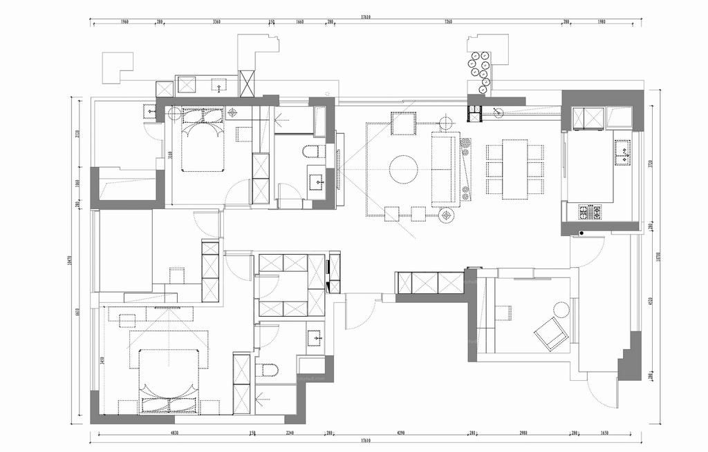 富阳绿城-现代简约-150平米装修设计理念