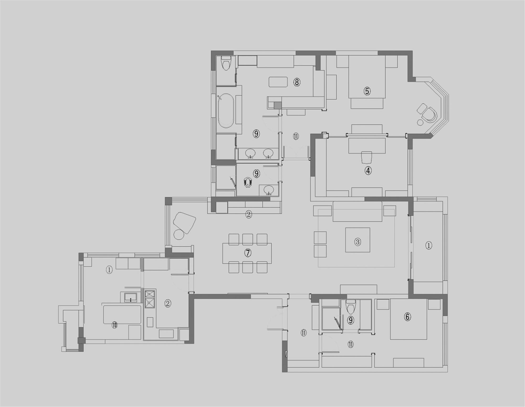 雅颂居-欧式古典风格-210平米装修设计理念