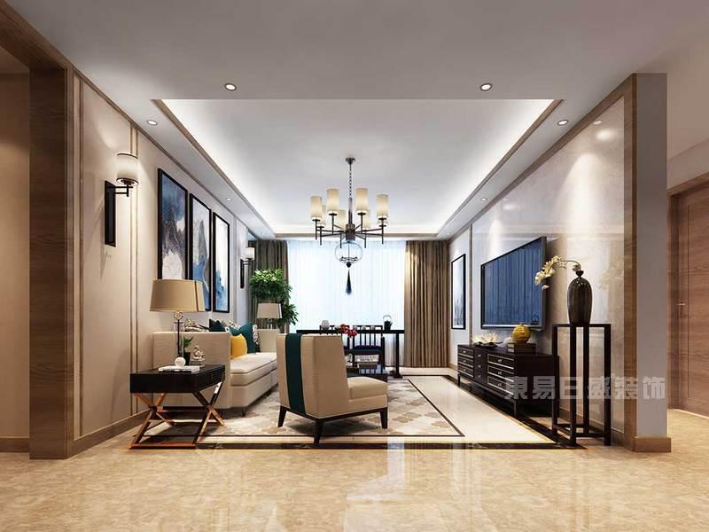 客厅 背景墙_100平米日式装修风格