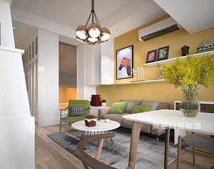 万达国际38平米小公寓北欧风格装修案例