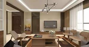 152㎡现代简约风装修三居室,简单又充满了设计感