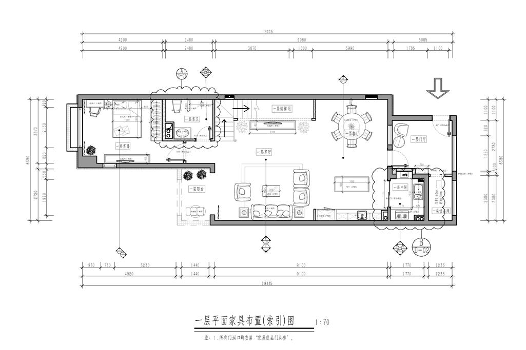 龙湖好望山-中式-320㎡装修设计理念