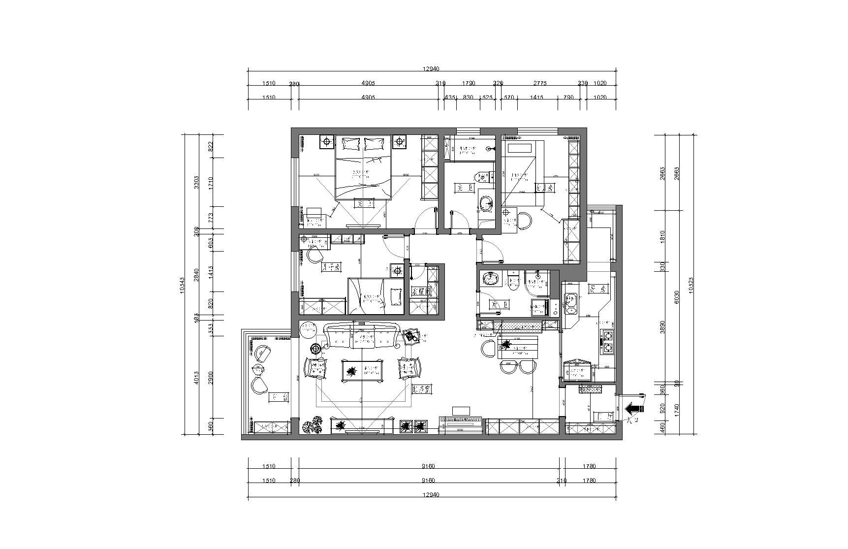 华清嘉园  150平方米 法式装修设计理念