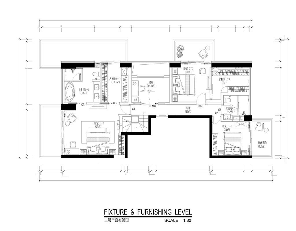 红树西岸 现代简约风格别墅装修效果图 500平米装修设计理念