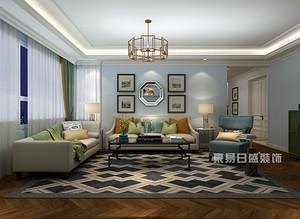 美式简约风格客厅装修图片,精致设计呈现惊艳美感!