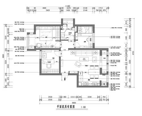 顺悦家园-70平米-现代风格装修设计理念