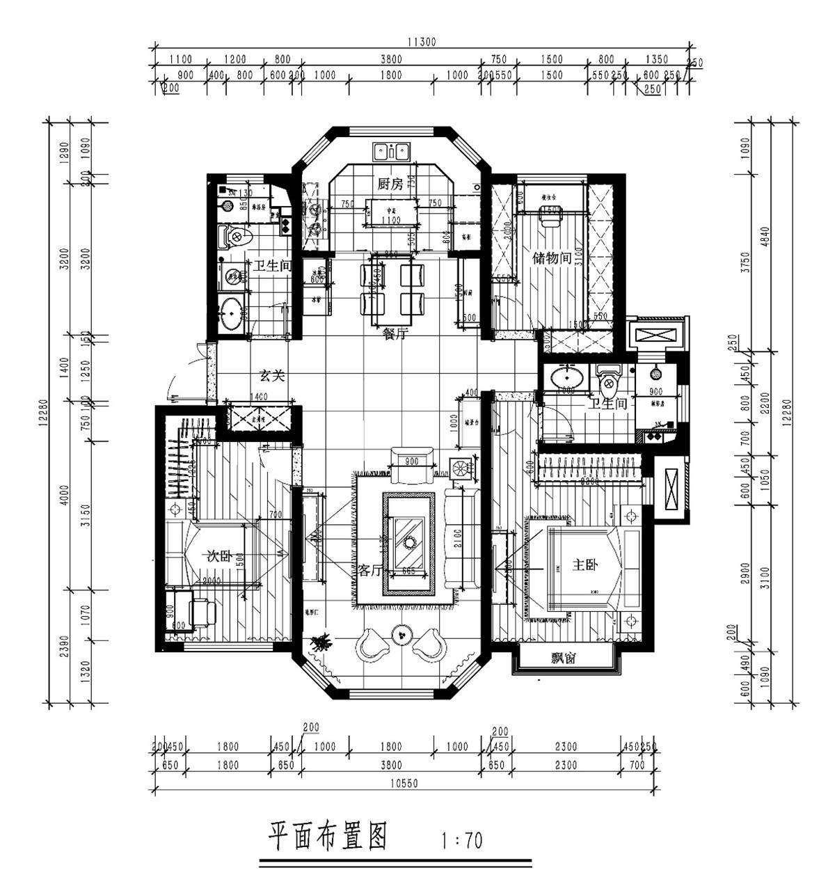 天房天拖-欧式风格-130平米装修设计理念